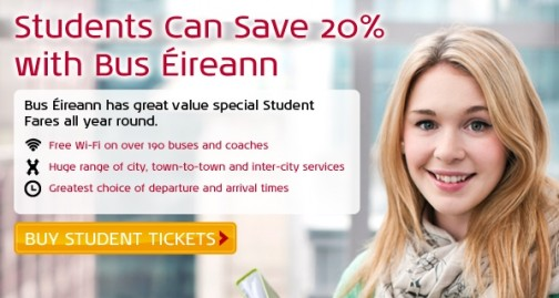 Students save 20% off the cost of an adult ticket with a student ticket