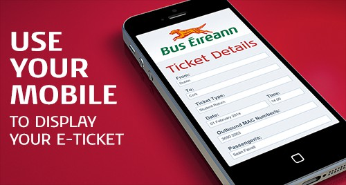 Use your mobile to display your eTicket