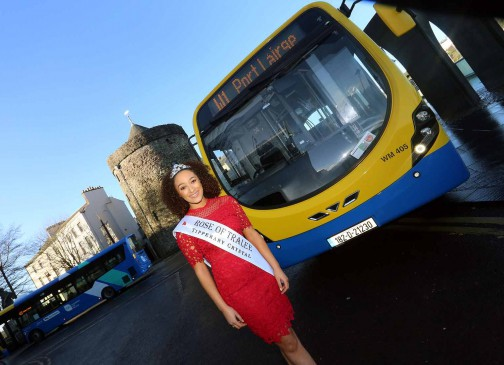 "The 2018 International Rose of Tralee, Kirsten Mate Maher, said: ""I'm delighted to be working with Bus Éireann on the promotion of their extended and enhanced Waterford city services. In my current role I'm on the move a lot and I travel with Bus Éireann a lot. Using public transport saves me time and energy, and it's also better for the environment! It's great to see that so many people are availing of the new services and I recommend anyone who hasn't to check them out!."""
