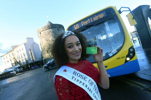 Waterford's International Rose of Tralee 2018 Kirsten Mate Maher launches €1 Leap Card Fare for Bus Éireann's Waterford City Services