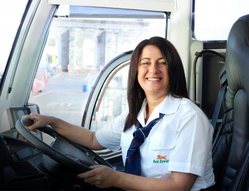 We are looking for women who want to drive buses