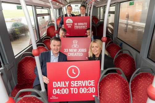 New Route 225 service operating  Haulbowline – Ringaskiddy – Carrigaline, Ballygarvan and Cork Airport